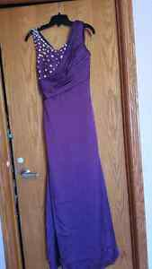 Purple Grad/Prom/party Dress (Negotiable )