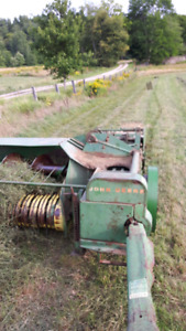 Small square hay second cut