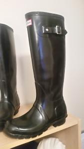 Hunter Boots Black Size 6