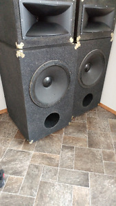 huge Electrovoice and Black widow 18 inch woofers custom built
