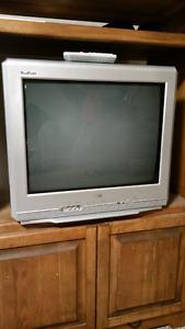 "RCA  21"" TruFlat TV with remote"