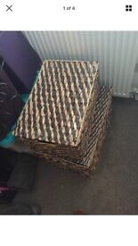Dunelm mill two storage wicker boxes