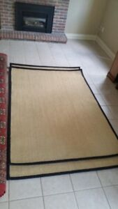 Natural SISAL rugs with black finished edges, (5x8, 5x7).