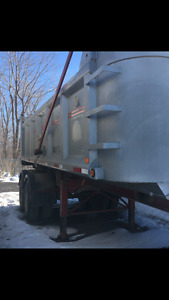 23 ft tandem dump trailer steel box