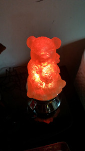 TEDDY bear changing colour lamp