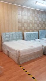 Brand new crushed velvet beds from £99