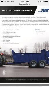 JBS Econo manure spreaders