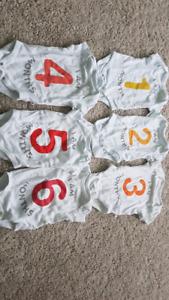 Baby Gap Monthly Onesies