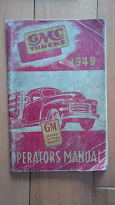 1949 GMC Truck Owners Manual