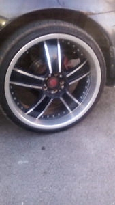"Tires and rims 20"" not all bent very straight"