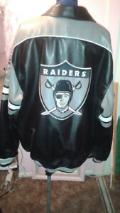 Raiders faux leather jacket, XXL great condition