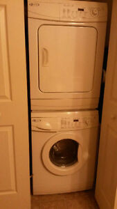 LIKE NEW!  MAYTAG Stackable White Washer & Dryer.