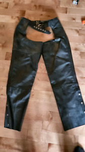 Ladies Heavy duty chaps and motorcycle jacket