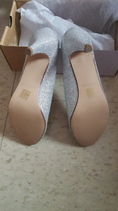 New silver shoes