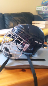 Ice Hockey Helmet and Skates