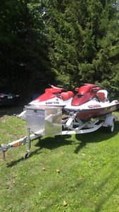 2 motomarine sur trailer double