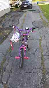 "18"" Girls Bike and Helmet"