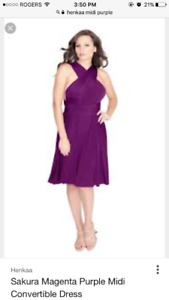 Henkaa magenta midi convertible 1 size fits all and 2x plus size