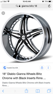 "18"" rims with 225 60 r18 low profile rubber"