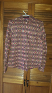 3 ladies western blouses – like new or new - large/XL