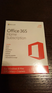 Microsoft Office 365 Home (5 PC or Mac)(brand new, still sealed)