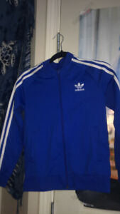 ADIDAS royal blue slim fit sweater