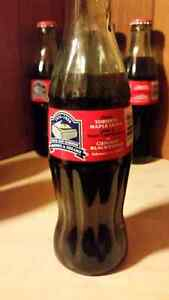 Collectible glass Coca-Cola bottles