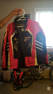 Skidoo jacket and gloves