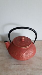 New never used japanese iron teapot 5.5 inches high w/handle