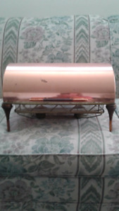 1950's Danish Copper and Teak Chafing Food Warmer Collectible