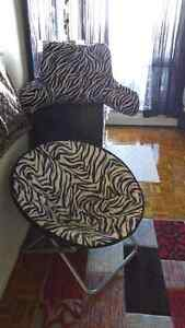 Zebra lounge chair & giant reading pillow by fairview
