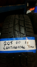 205 60 16 CONTINENTAL TYRES £35 EACH INC FIT N BALANCE OPEN 7 DAYS