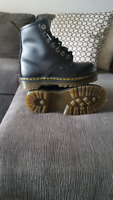 Dr. Martens steel toe boots size 5 us.