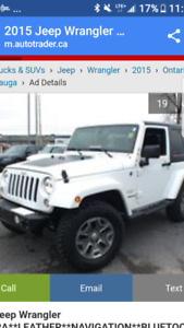 2016 Jeep Wrangler Sport Coupe with hard and soft top (2 door)