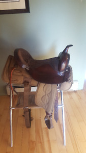 Big Horn Leather/Cordura Western Saddle with 17 in. Seat  (Used)