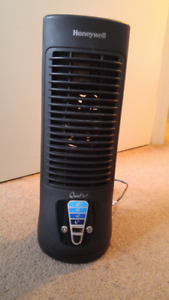 Small tower fan with oscillation
