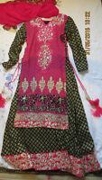 Black/Gold & Pink Anarkali Suit - INDIAN / PAKISTANI SUIT