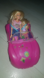 Barbie helicopter and car