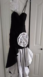 Prom Dress - Hi-Low Dress With Pretty Flower