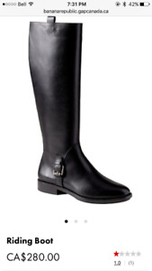 GORGEOUS brand new leather Banana Republic boots