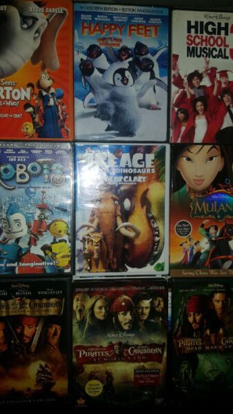 Disney and other kids movies