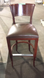 Tall Wood Dining Chairs x4