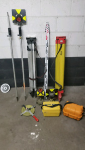 Survey/layout equipment.