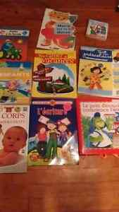 French childrens activity and reading books