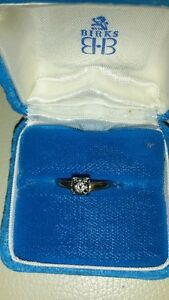 SOLITAIRE ANTIQUE DIAMOND ENGAGEMENT RING