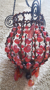 Beaded wire hanging decoration