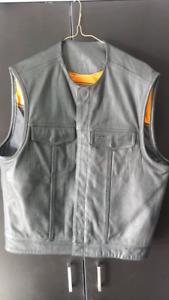 Large Leather Motorcycle Vest