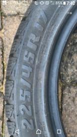 5x Tyres 225 45 17 - 6mm plus