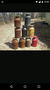 Milk cans