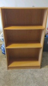 Used light brown children's bookshelf
